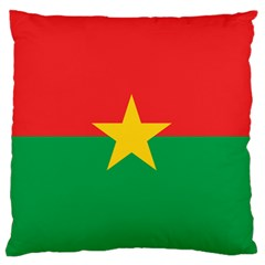 Flag Of Burkina Faso Large Flano Cushion Case (one Side)