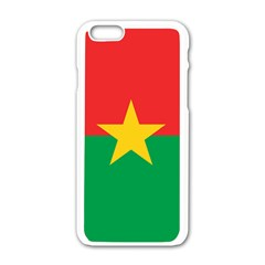 Flag Of Burkina Faso Apple Iphone 6/6s White Enamel Case