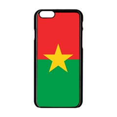 Flag Of Burkina Faso Apple Iphone 6/6s Black Enamel Case