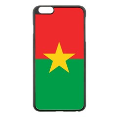 Flag Of Burkina Faso Apple Iphone 6 Plus/6s Plus Black Enamel Case