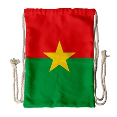 Flag Of Burkina Faso Drawstring Bag (large)