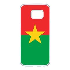 Flag Of Burkina Faso Samsung Galaxy S7 Edge White Seamless Case