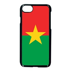 Flag Of Burkina Faso Apple Iphone 7 Seamless Case (black)