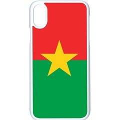 Flag Of Burkina Faso Apple Iphone X Seamless Case (white)
