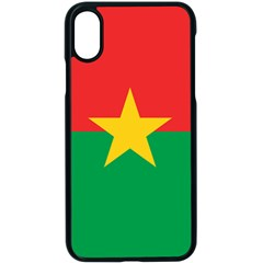 Flag Of Burkina Faso Apple Iphone X Seamless Case (black)