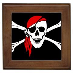 Pirate Skull Framed Tiles