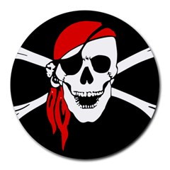 Pirate Skull Round Mousepads