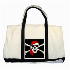 Pirate Skull Two Tone Tote Bag