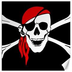 Pirate Skull Canvas 12  X 12   by sherylchapmanphotography