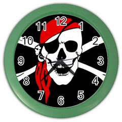 Pirate Skull Color Wall Clocks