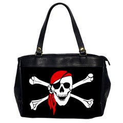 Pirate Skull Office Handbags (2 Sides)
