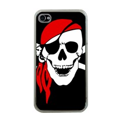 Pirate Skull Apple Iphone 4 Case (clear)