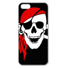 Pirate Skull Apple Seamless Iphone 5 Case (clear)