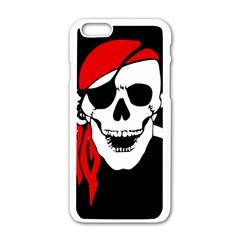 Pirate Skull Apple Iphone 6/6s White Enamel Case