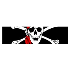 Pirate Skull Satin Scarf (oblong)