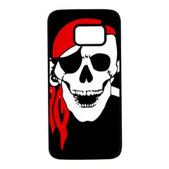 Pirate Skull Samsung Galaxy S7 Black Seamless Case