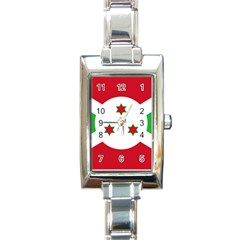 Flag Of Burundi Rectangle Italian Charm Watch