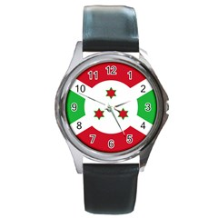Flag Of Burundi Round Metal Watch