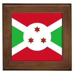 Flag Of Burundi Framed Tiles