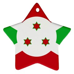Flag Of Burundi Ornament (star)