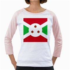 Flag Of Burundi Girly Raglans