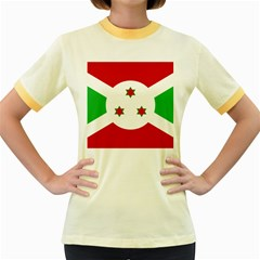 Flag Of Burundi Women s Fitted Ringer T Shirts