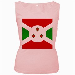 Flag Of Burundi Women s Pink Tank Top