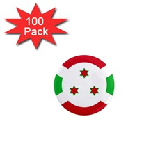 Flag Of Burundi 1  Mini Magnets (100 Pack)