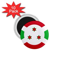 Flag Of Burundi 1 75  Magnets (10 Pack)
