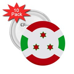 Flag Of Burundi 2 25  Buttons (10 Pack)