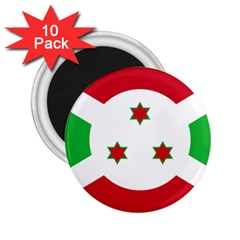 Flag Of Burundi 2 25  Magnets (10 Pack)