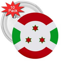 Flag Of Burundi 3  Buttons (10 Pack)
