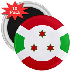 Flag Of Burundi 3  Magnets (10 Pack)