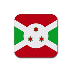 Flag Of Burundi Rubber Square Coaster (4 Pack)