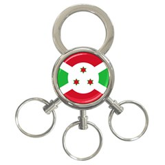 Flag Of Burundi 3 Ring Key Chains
