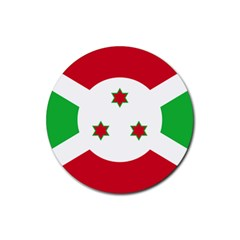 Flag Of Burundi Rubber Coaster (round)