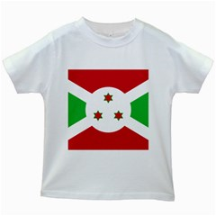Flag Of Burundi Kids White T Shirts