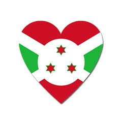 Flag Of Burundi Heart Magnet