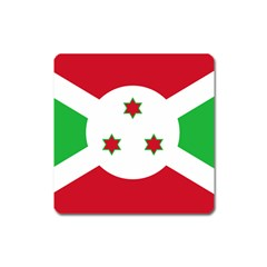 Flag Of Burundi Square Magnet