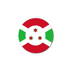 Flag Of Burundi Golf Ball Marker (10 Pack)