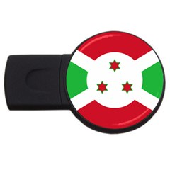 Flag Of Burundi Usb Flash Drive Round (2 Gb)