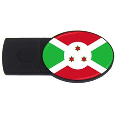 Flag Of Burundi Usb Flash Drive Oval (2 Gb)