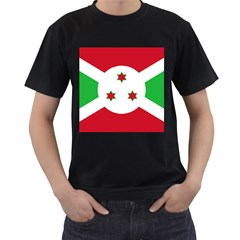 Flag Of Burundi Men s T Shirt (black) (two Sided)