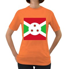 Flag Of Burundi Women s Dark T Shirt