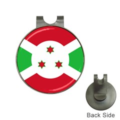Flag Of Burundi Hat Clips With Golf Markers