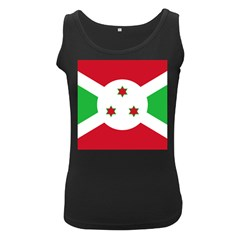Flag Of Burundi Women s Black Tank Top