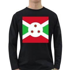 Flag Of Burundi Long Sleeve Dark T Shirts