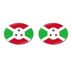 Flag Of Burundi Cufflinks (oval)