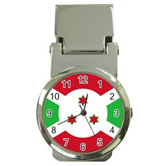 Flag Of Burundi Money Clip Watches by abbeyz71