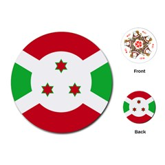 Flag Of Burundi Playing Cards (round)
